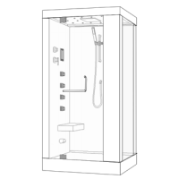 Душевая кабина Wasserfalle W-9803