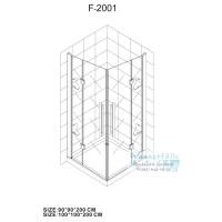 Душевой уголок Wasserfalle F-2001 90*90