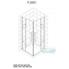 Душевой уголок Wasserfalle F-2001 100*100